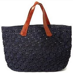 Valencia Crocheted Carryall Handbag