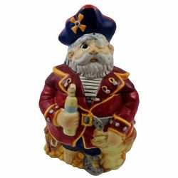 Ceramic Hand-Painted Pirate Cookie Jar