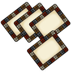4 Everyday Calico Frosted Vinyl Placemats