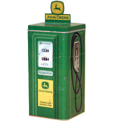 John Deere Tin Gas Pump Coin Bank