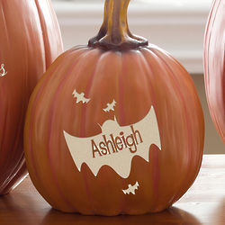 Bat Family Small Personalized Pumpkin