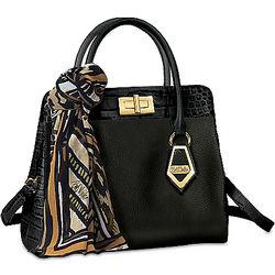 Bob Mackie Rodeo Drive Women's Leather Satchel Handbag