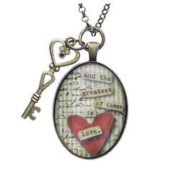 Personalized Love and Key to My Heart Necklace