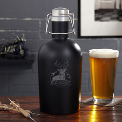 Outdoor Life Personalized Stainless Steel Growler for Hunters
