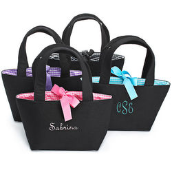 Personalized Gingham Bridesmaid Tote