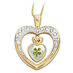Diamond Blessings Four-Leaf Clover Pendant Necklace