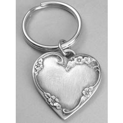 Personalized Heart Keyring