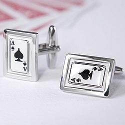 Ace of Spades Poker Cufflinks