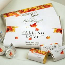 Fall Wedding Favor Chocolate Candy Bar