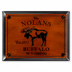 Personalized Moose Design Cabin Pub Sign