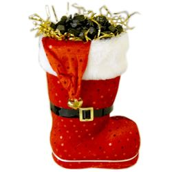 Santa's Chocolate Coal Candy Filled Boot