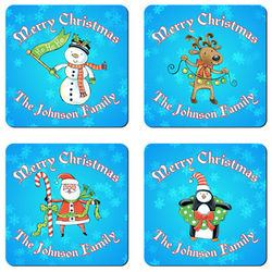 Personalized Christmas Characters Coaster Set