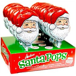 Solid Double Crisp Chocolate Santa Pops