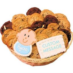 Welcome Baby Boy Cookie Gift Basket