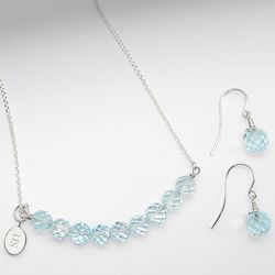 Blue Topaz Jewelry Set