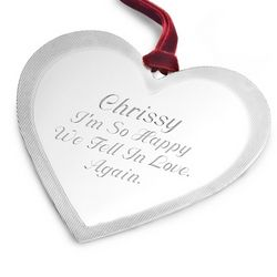 Classic Heart Flat Christmas Ornament