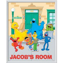 Personalized 18x24 Framed Sesame Street Character Canvas