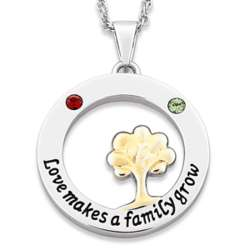 Love Makes a Family Grow Birthstone Mother's Necklace