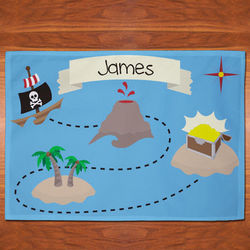 Personalized Pirates Treasure Map Placemat