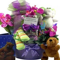 Family Time New Baby Gift Basket