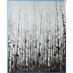 Birches Oil Painting