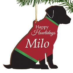 Happy Howlidays Personalized Dog Ornament