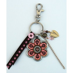 Pink Pewter Handbag Charm