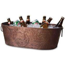 Copper Stained Oval Party Tub
