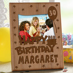 Birthday Wishes Engraved Cut-out Frame