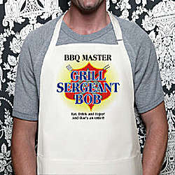 Personalized Grill Sergeant BBQ Apron