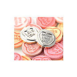 Silver Plated Sweet Heart Token