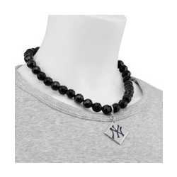 New York Yankees Beaded Necklace with Team Logo