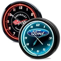 Automotive Themed Neon Clock