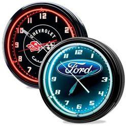 Automotive Themed Neon Clock
