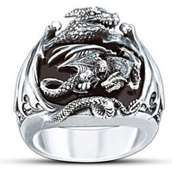 Realm of the Dragon Sterling Silver Ring