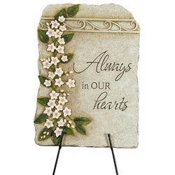 Always in our Hearts Memorial Marker with Stand