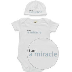 I Am A Miracle Babysuit and Hat