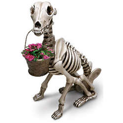 Skel-e-Dog Garden Statue