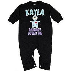 Personalized Mummy Fleece Romper