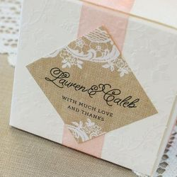 Personalized Diamond Wedding Gift Tag Labels