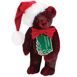 Smoldering Red Season's Greetings Teddy Bear