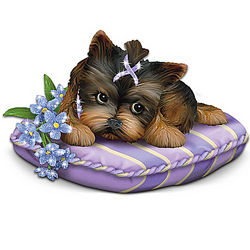 Love Never Forgets Alzheimer's Research Charity Yorkie Figurine
