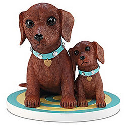 You Can Always Lean On Me Dachshund Puppy Figurine