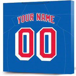 Personalized New York Rangers Jersey Canvas