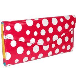 Polka-Dot Print Tri-Fold Wallet