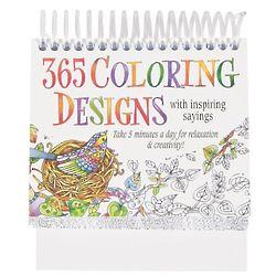 Adult Coloring Book Perpetual Calendar