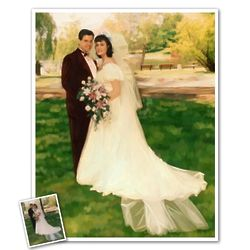 Personalized Oil Painting 8x10 Giclee Print from Photo