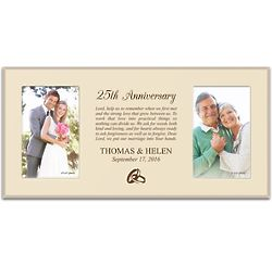 Personalized Anniversary Memories Double 4x6 Picture Frame