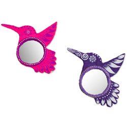Hummingbird's View Paper Mache Mirrors