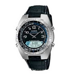 Casio Gray Pathfinder Watch with Cloth Band and Fishing Timer